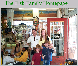 This website is maintained by Colin Fisk and provides a glimpse into the Fisk family.